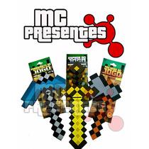 Kit 3 Ferramenta Minecraft Machado Espada Picareta Inmetro 2
