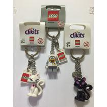 Chaveiro Lego (kit C/ 3) Série Bob Esponja E Clikits