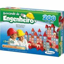 Brinquedo Pedagógico Brincando Engenheiro 200 Peças + Frete
