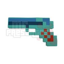 Pistola Diamante Minecraft Arma Revolver Game Jogo Inmetro