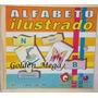 Caixa Bloco Alfabeto Ilustrado Letras Pedagógico Madeira