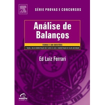 Livro Análises De Balanços Ed Luiz Ferrari