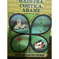 Arte/educação- Livro Trevo De 4 Folhas-madeira/cortiça/arame