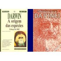 Livros Darwin A Origem Das Espécies + Pensamento De Da Vinci