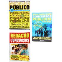 Kit 3 Livros Concursos Públicos Vestibulares Enem Discovery