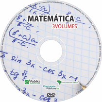 Dvd Videoaula De Matemática Para Concursos Públicos 2016
