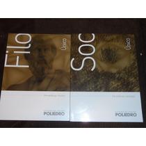 Filosofia, Sociologia - 2 Livros Poliedro 2015 -livros Novos