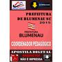 Apostila Concurso Pref Blumenau Coordenador Pedagogico