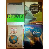 4 Livros Matérias Estudo Medicina Pré-vestibular