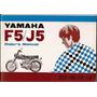 Manual Moto Yamaha F5 J5 50 Cc Cinquentinha Raro Original