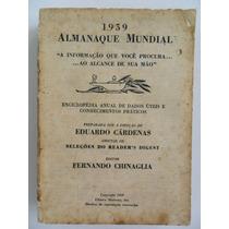 Livro Antigo Almanaque Mundial Ano De 1959 Editora Moderna