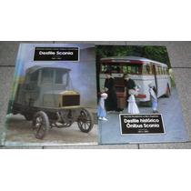 2 Livros Desfile Histórico Ônibus Caminhões Scania Capa Dur
