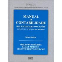 Livro Manual De Contabilidade Das Sociedades Por Ações Sérgi