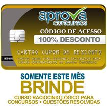 Cupom De Desconto 100% Aprova Concursos. (exceto Premium)