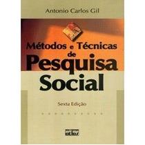 Livro Método E Técnicas De Pesquisa Social - Antônio Carlos