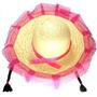 12-chapéus De Palha Festa Junina C/trança -frete Grátis