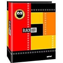 Fichário Universitário 4 Argolas Black Out Spiral