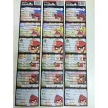 18 Etiquetas Angry Birds Caderno Livro Material Escolar