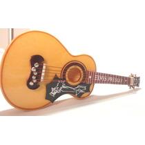 Violão Elvis Presley 12 Cm - Miniatura Em Madeira - Com Case