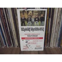 Iron Maiden Ingresso Show 1992 (porto Alegre)