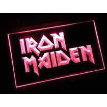 Iron Maiden - Luminoso Estilo Neon Exclusivo 220 V