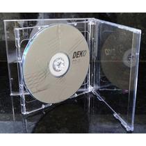 Capa / Caixinha / Estojo Cd Box Duplo Transparente 20 Unid
