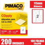 Etiqueta Pimaco De Cds E Dvds Cd100b