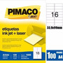 Etiqueta A4362 Laser Inkjet 1600 Pimaco Etiquetas 33,9x99mm