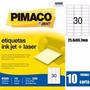 Etiqueta Pimaco Carta 6080 Laser Inkjet 300 Etiquetas 25,4x