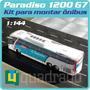 Kit P Montar 1 Miniatura Ônibus Marcopolo G7 1200 Penha