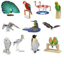 Maquetes De Papel 3d - 14 Modelos De Aves Em 3 Dimensões