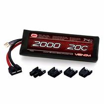 Bateria Lipo 2s 7.4v 2000mah 20c Venom 15023 1/16