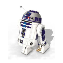 Modelos Em Papel 3d - Star Wars R2-d2 Para Imprimir E Montar