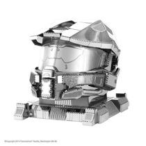 Capacete Master Chief Halo - 3d Metal Model Kit - Fascina...