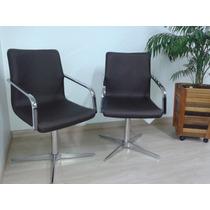 Conjunto Poltrona Cadeira Home Office Decoração Giratória