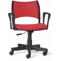 Cadeira Escritório Giratória Plástica Estofada