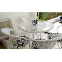 Conjunto Mesa Arcobalena E Cadeiras Fibra Sintética Design