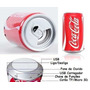 Kit Com 6 Caixas De Som Latinha Coca Skol Usb Pen Drive