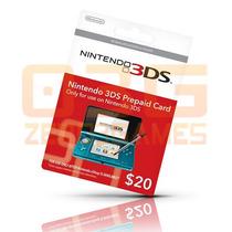 Cartão Nintendo 3ds - Wii U Eshop Cash Card $20 - Imediato!