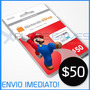 Cartão Nintendo 3ds Shop / Eshop Cash Card - $50 - Wiiu