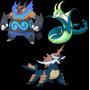 Pokemon Oras Y X Serperior Samurott Emboar Evento Shiny Ha