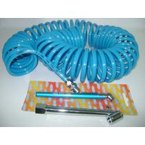 Manqueira Spiral +bico Encher Pneu+caneta Calibradora
