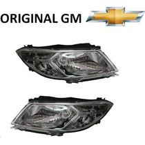 Farol Onix Novo Prisma Original Gm -na Caixa Gm Chevrolet