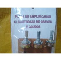 Kit P/ Montar Amplificador - Placa C/ Controle Grave/ Agudo