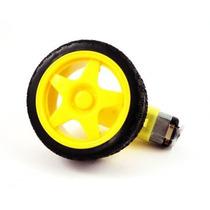 Motor Dc 3-6v + Redução + Roda + Pneu- Arduino
