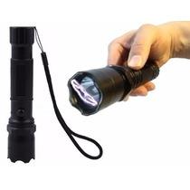 Arma De Choque Defesa Pessoal + Lanterna + Carregador - Novo