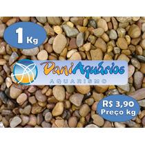 1kg Pedra De Rio Para Aquário, Jardins, Decoração, Peixe