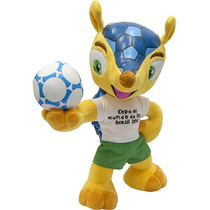 Pelúcia Oficial Fuleco Mascote Copa Do Mundo Fifa 2014 23 Cm