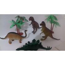 Animaizinhos De Borracha 4 Pç 18 Cm Dinossauros Animais
