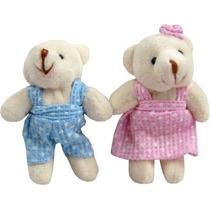 Mini Urso Pelucia Lembrancinha Maternidade Chaveiro Bebe